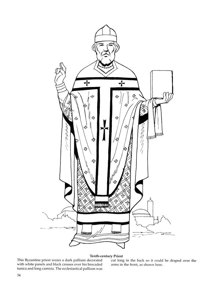 chasuble coloring page coloring pages. Black Bedroom Furniture Sets. Home Design Ideas