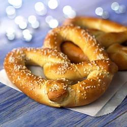Auntie Anne's Pretzels - Copycat Recipe (and the blogger spells her name like me!). I want to do the cinnamon sugar ones though :)