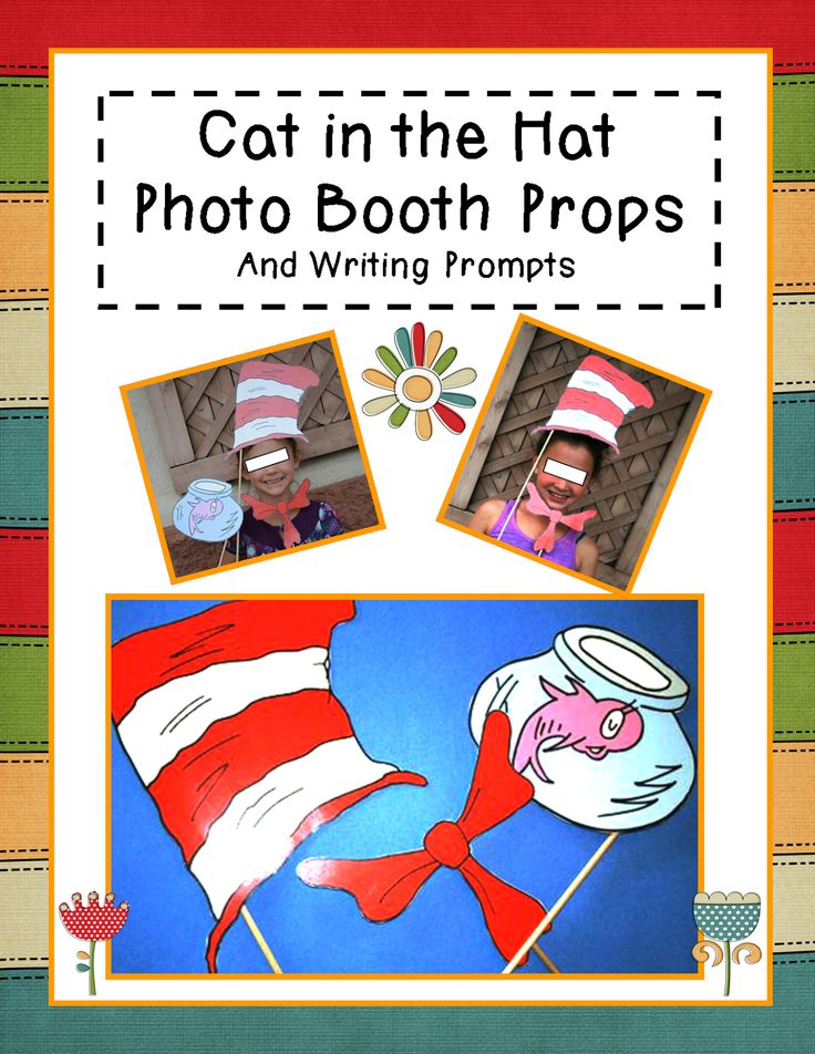Cat in the Hat: Photo Booth Props and Writing Prompts
