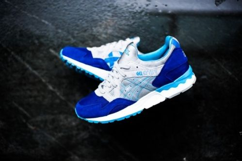Мужские кроссовки Asics Gel Lyte V - Dark Blue / Light Grey