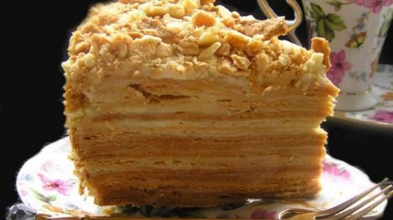 Торт Наполеон «мокрый». Пошаговый рецепт с фото на Gastronom.ru