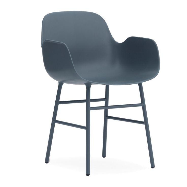 Normann Copenhagen Form Armchair stoel met stalen onderstel | FLINDERS verzendt gratis