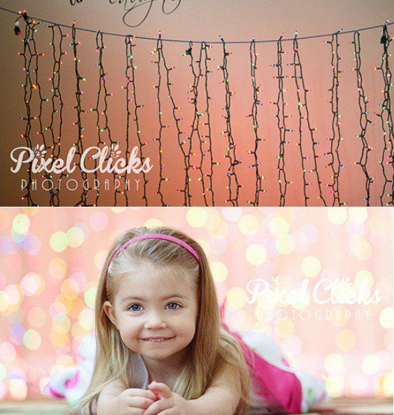 25 Drop Dead Gorgeous DIY Photo Backdrops--9. String up lights for a cool bokeh effect.