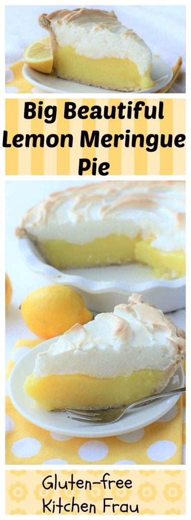 A luscious lemon meringue pie with a silky filling that's tart & intensely lemony topped by a billowy meringue. It's a classic. (Gluten free, too!)