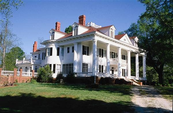 """Whitehall"" in Covington GA built in the 1830's. Before ""Gone With The Wind"" was filmed, Margaret Mitchell sent a photo of Whitehall to set designers in Hollywood & said, ""I want this for Ashley's home"", referring to Twelve Oaks."