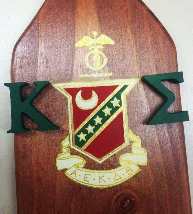 Kappa Sig Paddle with fraternity crest. Custom painted by the Paddle Co. Get your own custom paddle at www.etsy.com/shop/ThePaddleCompany.