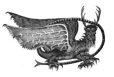 Is the Mothman the Demon Pazuzu? This ancient art is in Alton, illinois.