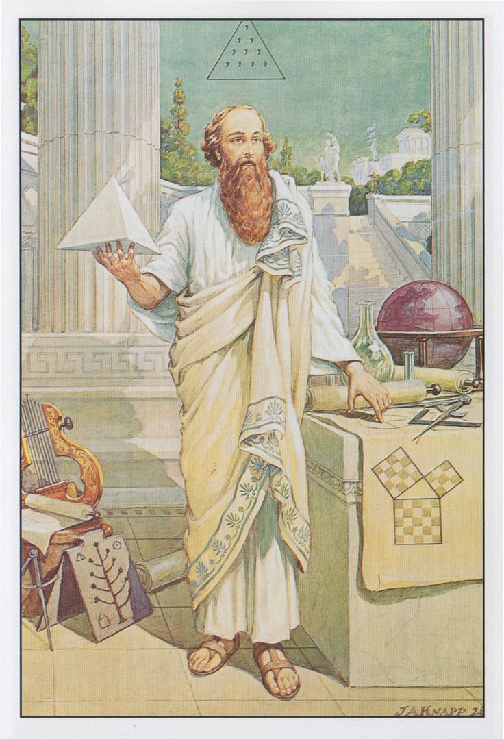 "triste le roy "" Pythagoras—from Manly P Hall s The Secret Teachings of All Ages John Augustus Knapp """