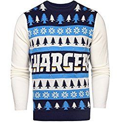 NFL San Diego Chargers Light-Up One Too Many Ugly Sweater, Large