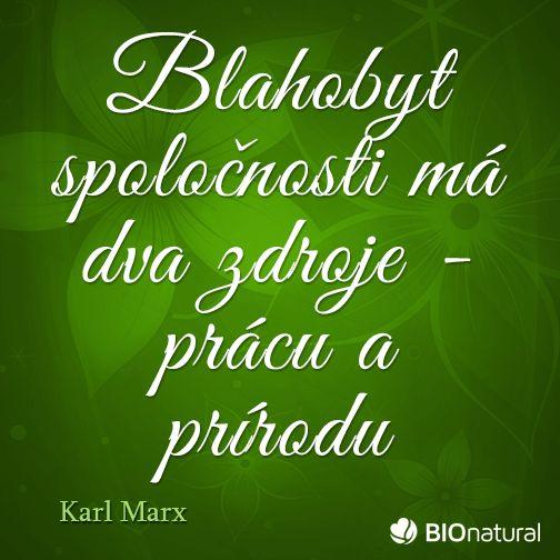 Citát o prírode od Karla Marxa #citaty