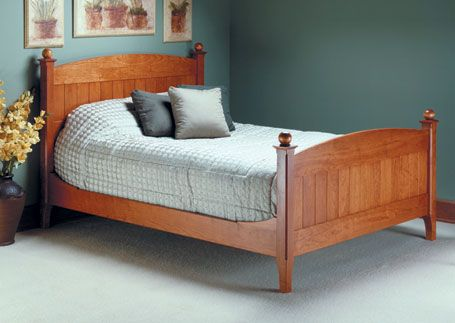Classic Cherry Bed Woodsmith Plans Furniture Plans Pinterest