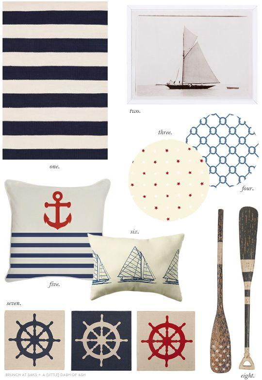 NAUTICAL Google Image Result for http://2.bp.blogspot.com/-eBshVmvMKA4/T-IumILPXFI/AAAAAAAABvQ/OIWMDpLtcKA/s1600/nautical-themed-home-decor-accessories.jpg
