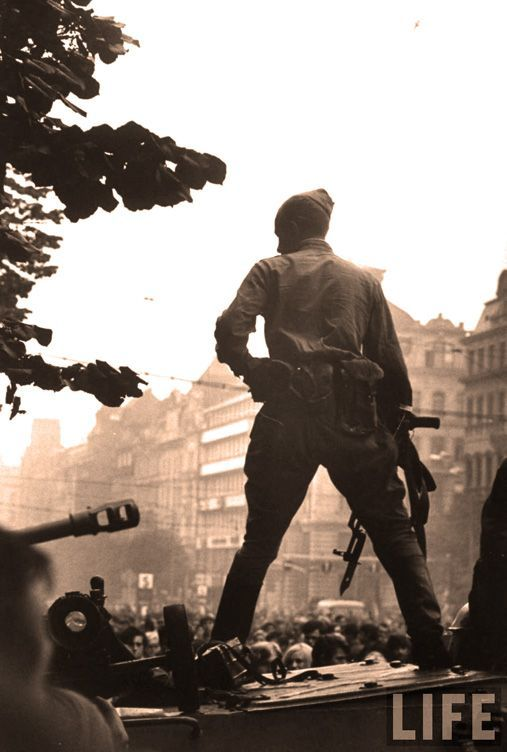 Soviet Soldier In Pague During Warsaw Pact Intervention In Czechoslowakia