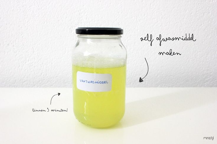 zelf-vaatwasmiddel-maken
