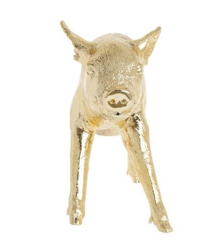 Harry Allen designed gilded piggy bank  #calypsostbarth.com