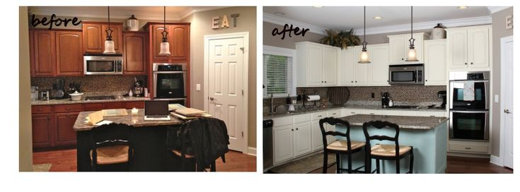 Annie sloan duck egg blue painted kitchen cabinets before and after pictures blue and and - Annie sloan kitchen cabinets before and after ...