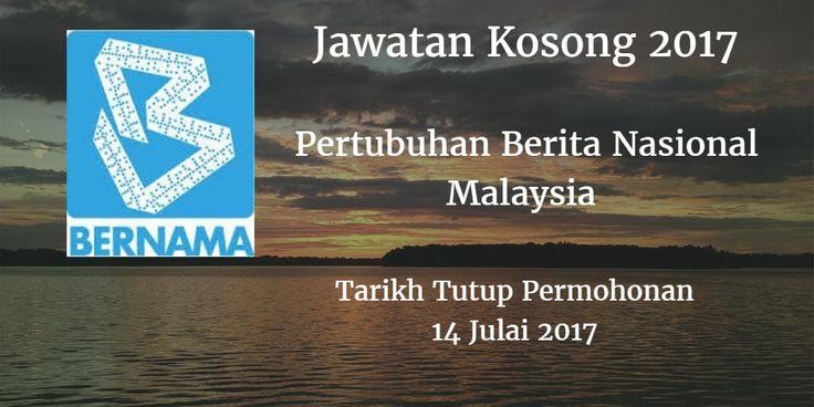 Pertubuhan Berita Nasional Malaysia Jawatan Kosong BERNAMA 14 Julai 2017  Pertubuhan Berita Nasional Malaysia (BERNAMA) calon-calon yang sesuai untuk mengisi kekosongan jawatan BERNAMA terkini 2017.  Jawatan Kosong BERNAMA 14 Julai 2017  Warganegara Malaysia yang berminat bekerja di Pertubuhan Berita Nasional Malaysia (BERNAMA) dan berkelayakan dipelawa untuk memohon sekarang juga. Jawatan Kosong BERNAMA Terkini 14 Julai 2017: 1. EKSEKUTIF JUALAN & PEMASARAN Tarikh Tutup Permohonan : 14…