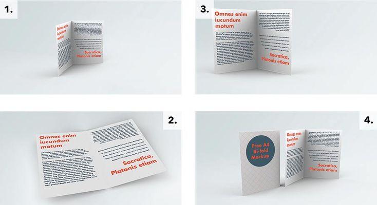 Free Bifold Brochure Mockup Psd1 Brochure Mockup Free Bi Fold Brochure Menu Mockup