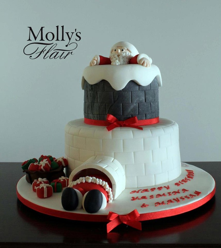 Christmas Birthday Cakes Pinterest