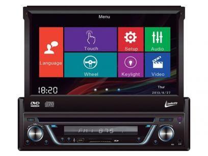 """DVD Automotivo Leadership Retrátil 7"""" Touch Screen - Entrada Auxiliar e USB com as melhores condições você encontra no Magazine Bemmaispratico. Confira!"""