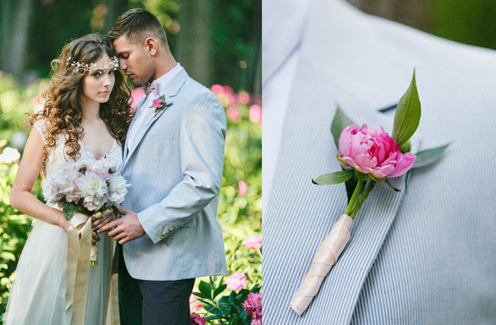Love the flower crown..great for garden wedding party