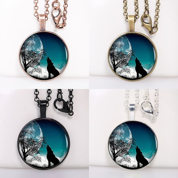 Find More Pendant Necklaces Information about Wolf Roaring In The Night Logo Round Pendant Women Choker Statement Necklace For Men Dress Accessories DF082580,High Quality necklace brand,China necklace garnet Suppliers, Cheap necklace anime from DreamFire Store on Aliexpress.com