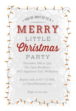 A Merry Little Party - Free Printable Christmas Invitation Template   Greetings Island