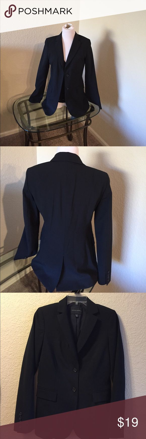 Banana Republic size 4 boyfriend jacket Size 4 black two button boyfriend jacket.  Banana Republic. Top of shoulder to bottom of the hem 26 1/2. In great used condition. Banana Republic Jackets & Coats Blazers