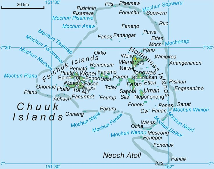 Chuuk Or Truk May Refer To Chuuk State One Of The Four States Of - Micronesia interactive map
