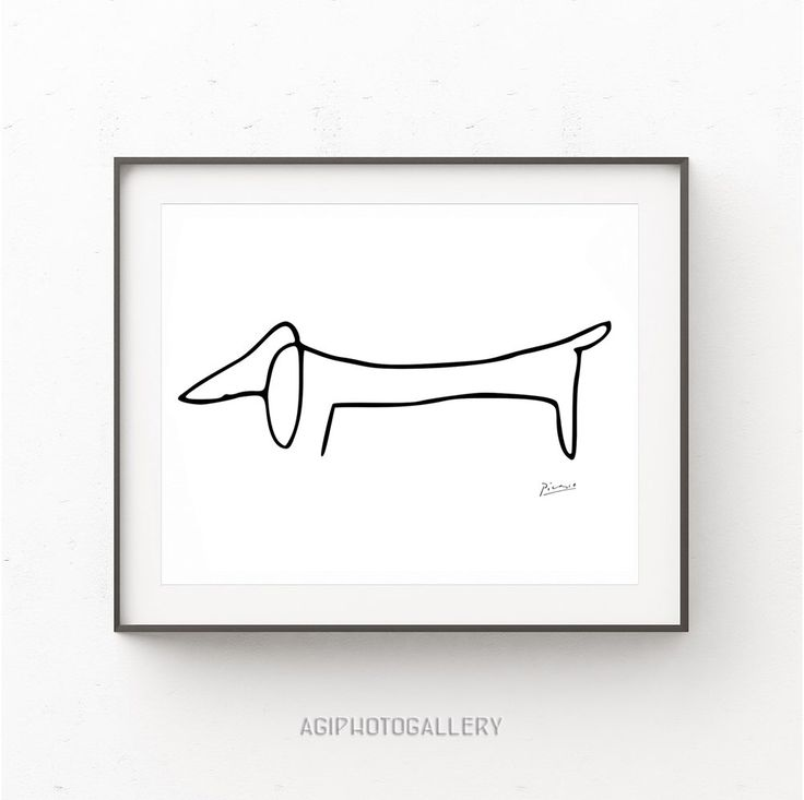 Picasso Print, Picasso Poster, The Dog Picasso, Picasso Dachshund, Picasso sketches, Picasso Line Drawing, Minimalist Print, Pablo Picasso by AgiPhotoGallery on Etsy https://www.etsy.com/listing/475835100/picasso-print-picasso-poster-the-dog