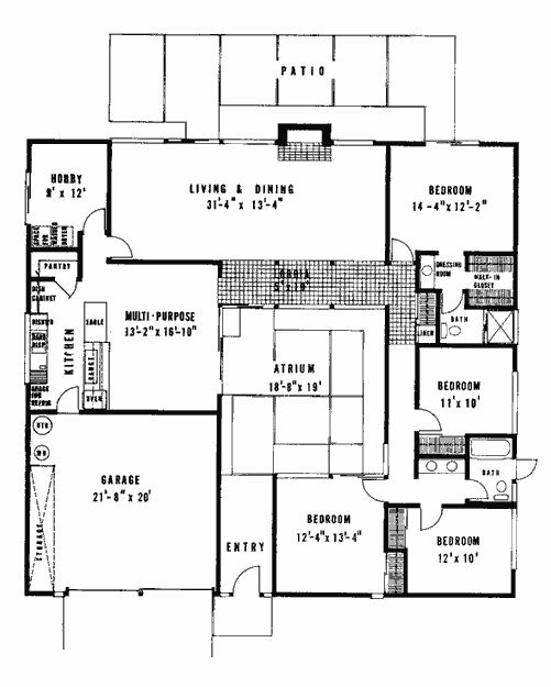 26 best eichler floor plans images on pinterest | modern floor