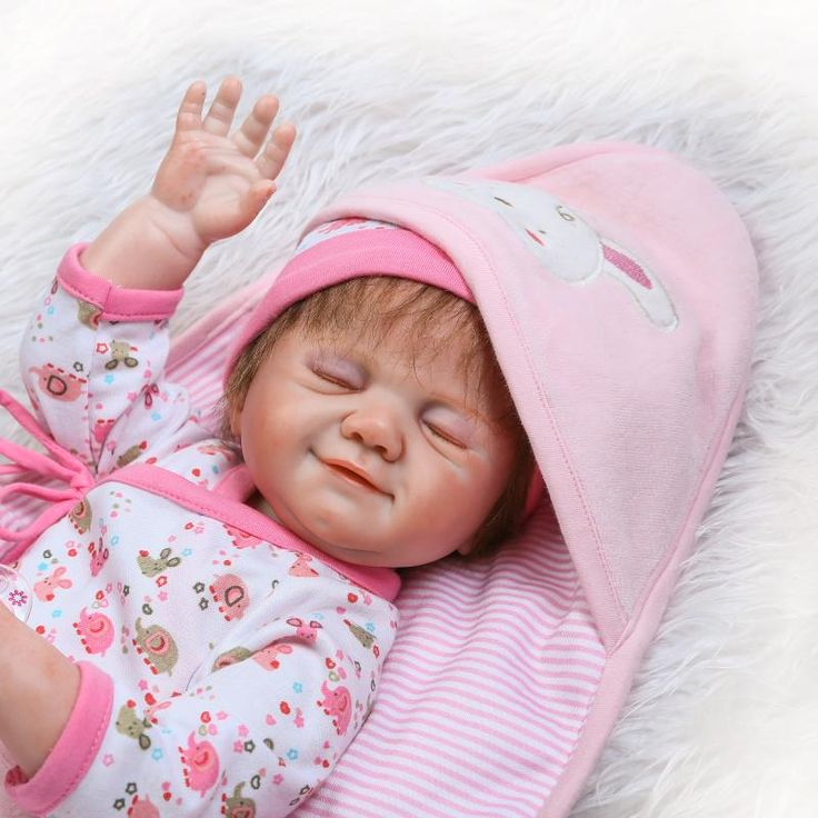 "NPKCOLLECTION 20"" New arrival Hand painted Implanted eyelashes baby girl toys bebe brinquedos full silicone baby reborn dolls  #Affiliate"