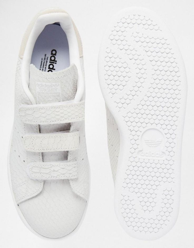 Adidas | adidas Orginals Velcro Stan Smith In Snake Suede Sneakers at ASOS