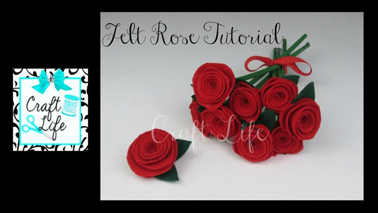Craft Life Easy DIY Felt Rose Tutorial ~ Copyright © 2015 Craft Life. All rights reserved. This material may not be published, broadcast, rewritten, rerecord...