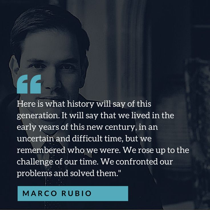 Marco Rubio Inspires Supporters With Speech About Legacy, Generations, Sacrifice