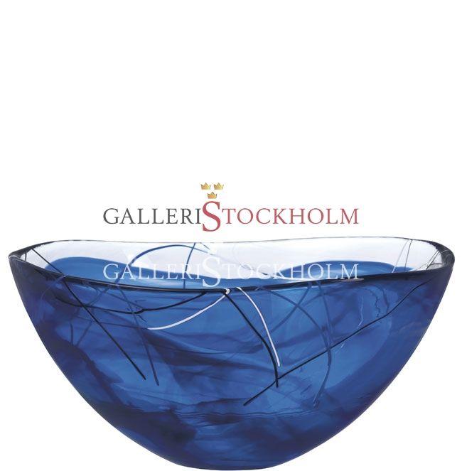 Anna Ehrner - Glaskonst -  Contrast - Stor skål blå Kosta Boda Beställ här! Klicka på bilden.