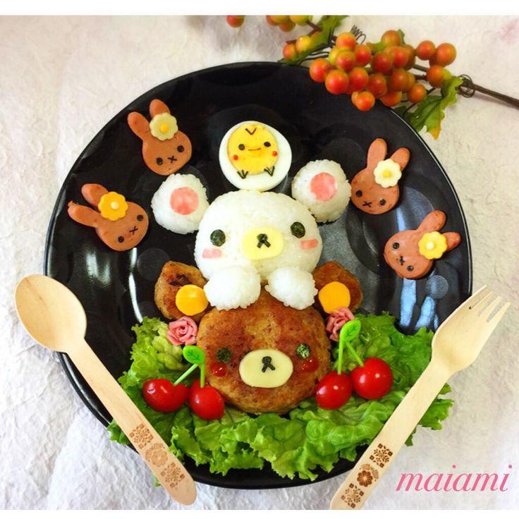 Rilakkumar, Korilakkumar, Kiiroitori & Miffy themed dinner by maiami (@maiamichan810)