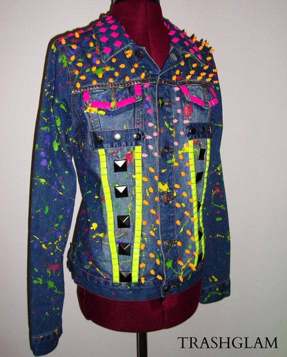 Hey, I found this really awesome Etsy listing at https://www.etsy.com/listing/162109015/neon-war-paint-splatter-80s-punk-japan