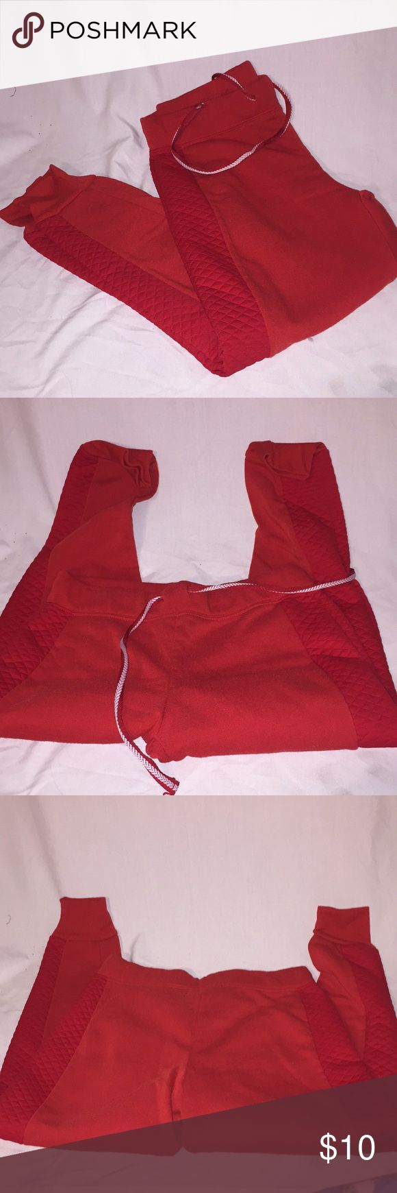 Joggers Red sweat pants joggers they fit like a Large. Soft and comfortable Pants Track Pants & Joggers