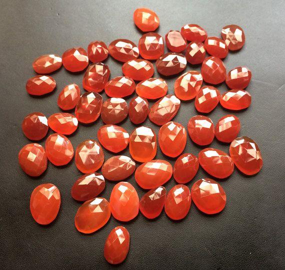 WHOLESALE 10 Pcs Carnelian Orange Chalcedony Rose by gemsforjewels