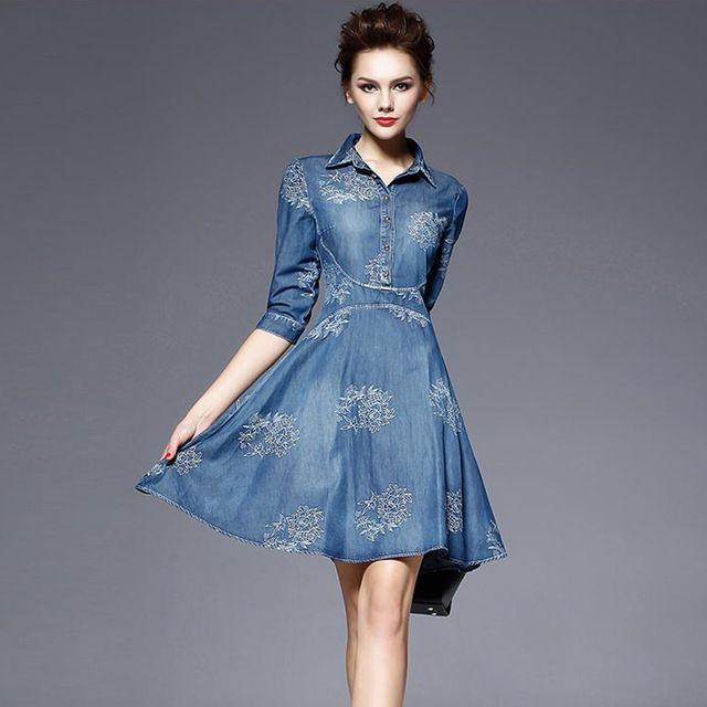 Plus-Size-5XL-2017-Embroidery-Denim-Dress-Women-s-Half-Sleeve-Summer-Dress-Blue-Jeans-Dress.jpg_640x640.jpg (640×640)