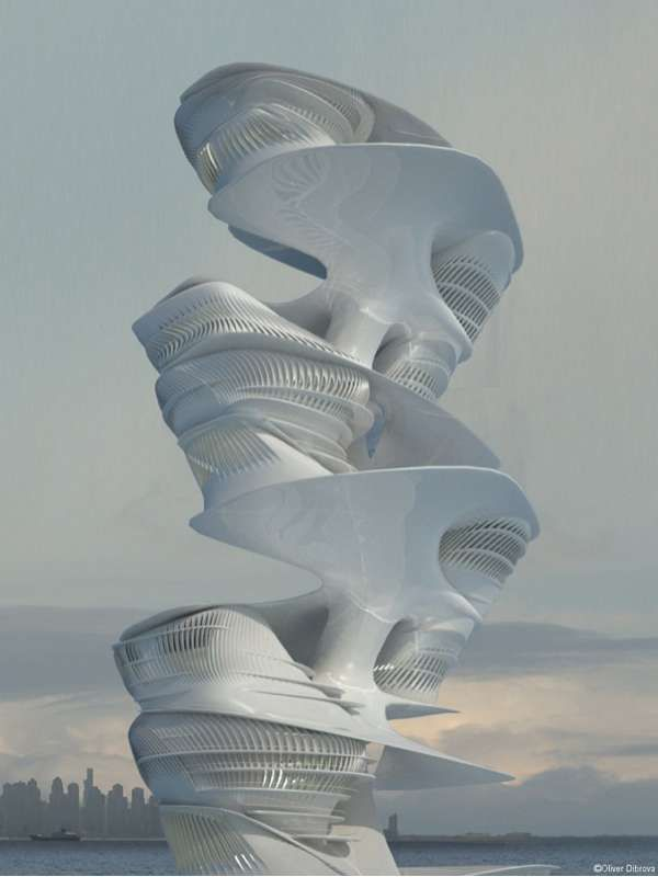 This Skyscraper by Hani Rashid Studio Offers Targeted Accommodations #travel trendhunter.com