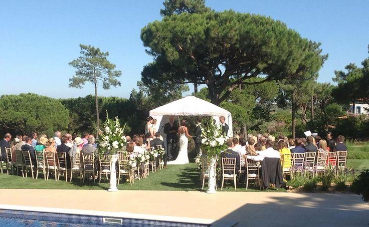 quinta da lago wedding villa. over looking a stunning golf course. www.algarveweddingsbyrebecca.com