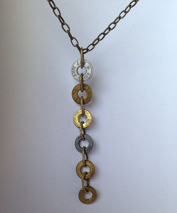 Bullet casing ammo necklace on Etsy, $50.00