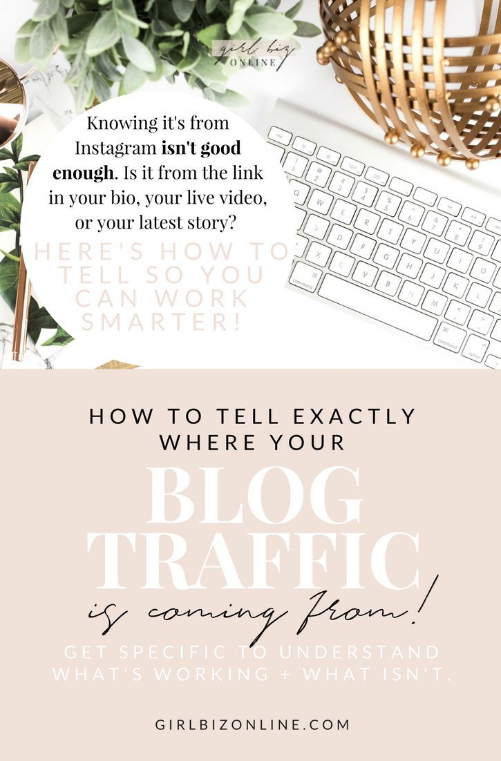 This is an awesome tool to help you tell EXACTLY where your blog traffic is coming from - so you know what's worth your time and what's just wasting it!