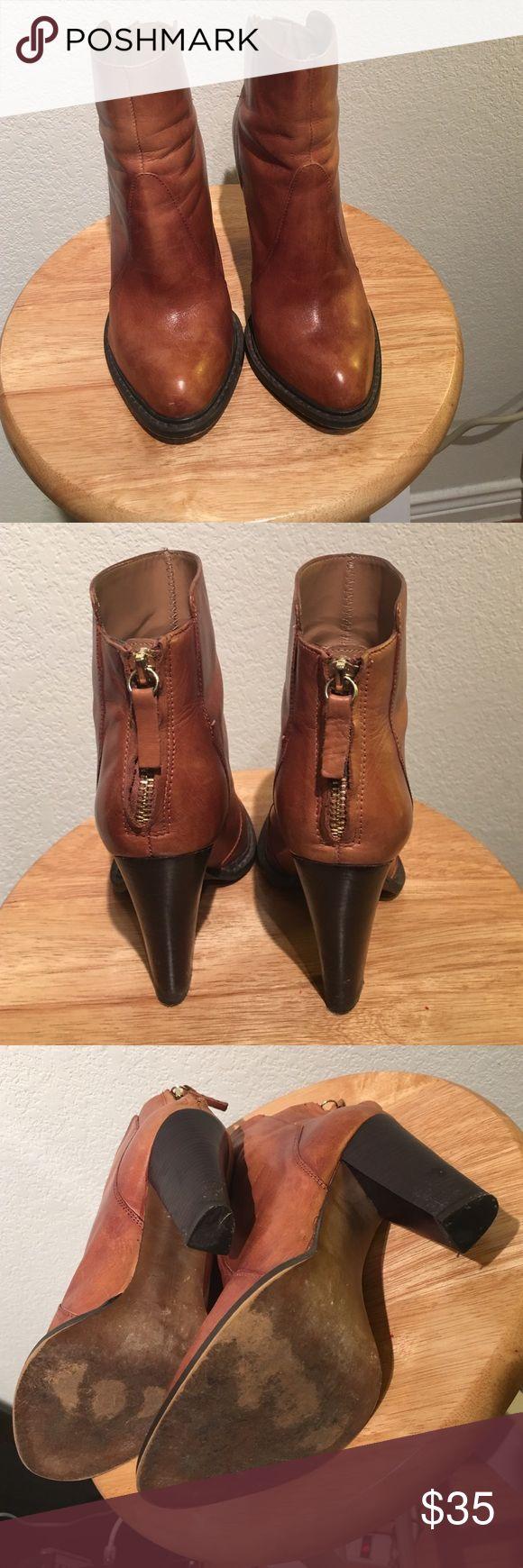 Zara Leather High Heel Ankle Boots* Zara Leather High Heel Ankle Boots* Zara Shoes Ankle Boots & Booties