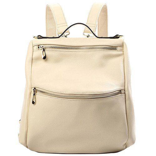 Casual Women's Satchel With Zips and Solid Color Design #jewelry, #women, #men, #hats, #watches, #belts