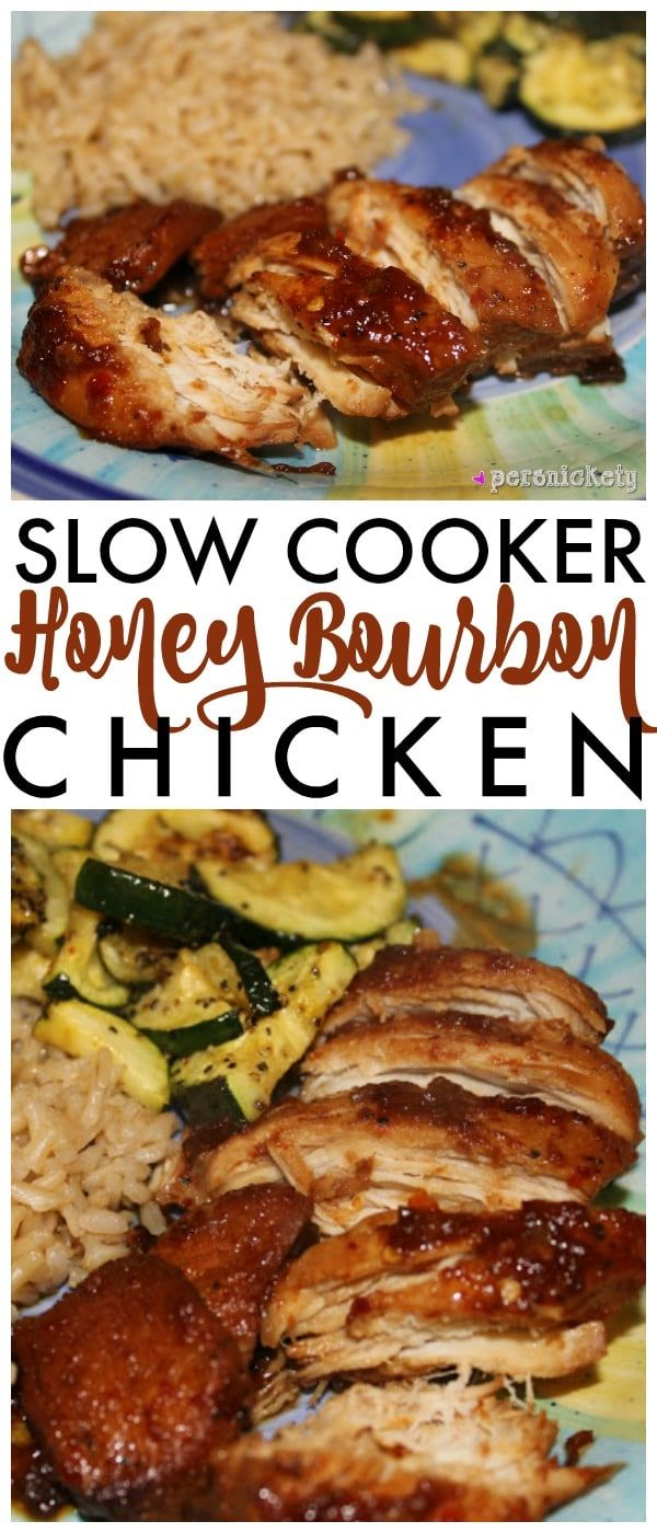 If you love bourbon chicken from the food court at the mall, you'll love this version of Crock Pot Honey Bourbon Chicken that's made right in your slow cooker!   Persnickety Plates