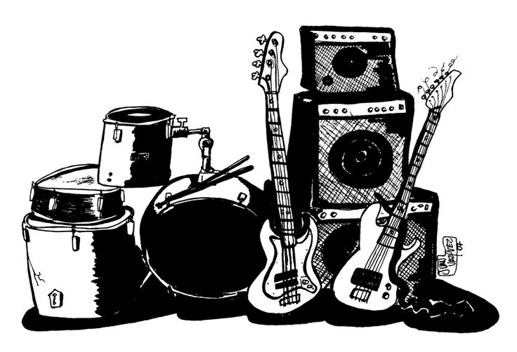 #dibujo #drawing #music #guitarra #bass #bateria #punk