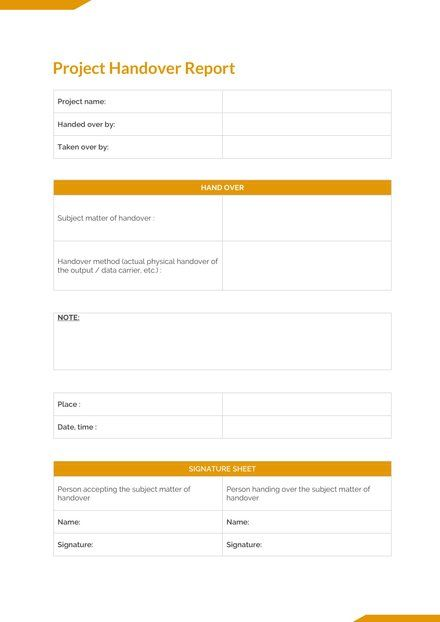 Free Final Project Handover Report Downloadable Templates Word Doc Words